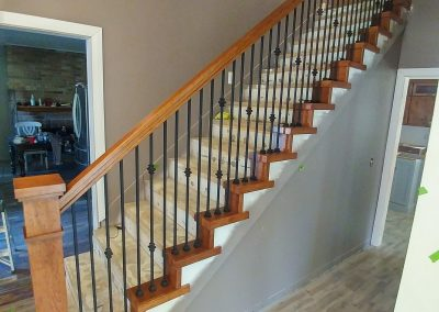 Cottonwood Heights wood and iron railing