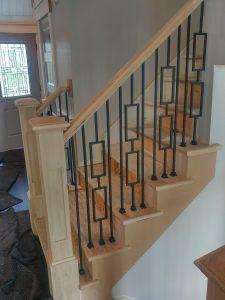 Contemporary Stair Railing Design. - Apex Carpentry