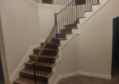 Draper Utah modern stair railing
