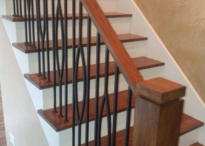 Eagle Mountain modern stair rail