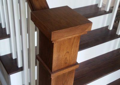 Herriman wood banister