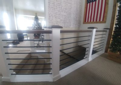 Riverton Utah horizontal bar stair rail