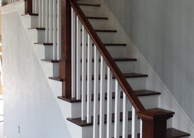 South Jordan wood stair railing