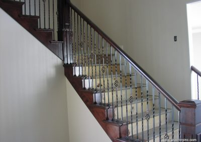 alder-stair-rail-with-tread-caps in Saratoga Springs