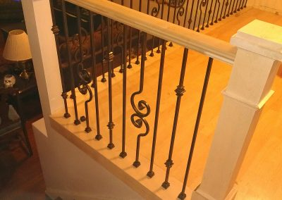 scroll style iron balusters