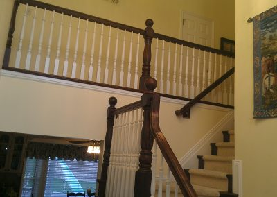 cherry stair rail
