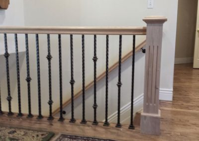 fluted post and custom balusters