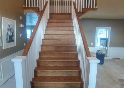 modern banister in Cottonwood Heights