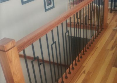 modern stair railing in west jordan