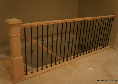 Tooele maple railing