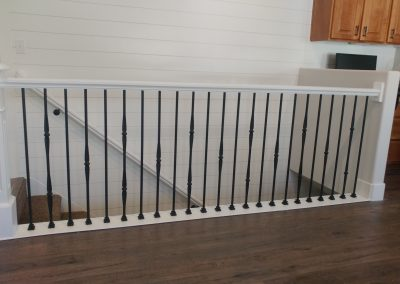 white stair railing in Draper Utah
