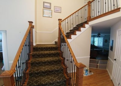 wood and iron railing in Cottonwood Heights